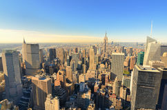 Aerial view of Manhattan Royalty Free Stock Photos