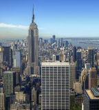 Aerial view of Manhattan Stock Photo