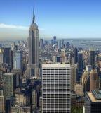 Aerial view of Manhattan Stock Photo
