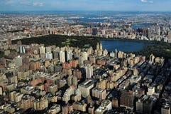 Aerial view of Manhattan Stock Image