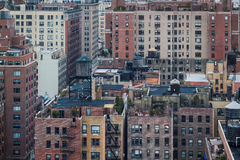Aerial View of Manhattan Apartments Stock Images
