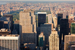 Aerial view of Manhattan and Central Park, New York City Stock Image