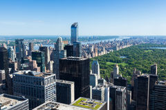 Aerial view of Manhattan central park  in New York - USA Royalty Free Stock Images