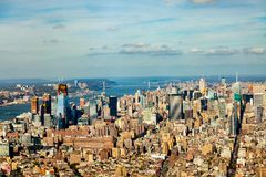 An aerial view of Manhattan - the Empire State. royalty free stock image