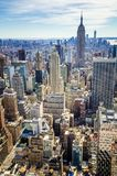 Aerial view of Manhattan and the Empire State Building stock photo