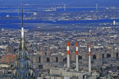 Aerial View of Manhattan from Empire State Building with Chrysler Building, NY Royalty Free Stock Images
