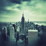 Aerial view of Manhattan grunge style Royalty Free Stock Photography