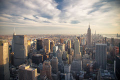 Aerial view Manhattan Royalty Free Stock Images