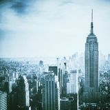 Aerial view of Manhattan Stock Photography