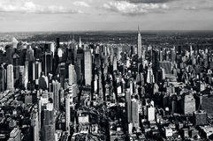 Aerial view of Manhattan New York City Royalty Free Stock Photos