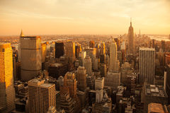 Aerial view Manhattan New York City Stock Images