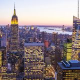 Manhattan in New York city Royalty Free Stock Photo