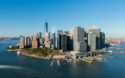 Aerial View of Manhattan, New York Royalty Free Stock Image