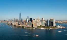 Aerial View of Manhattan, New York Royalty Free Stock Photography