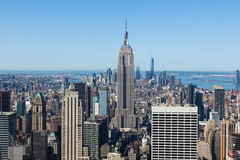 Aerial view of Manhattan  in New York  USA Royalty Free Stock Image