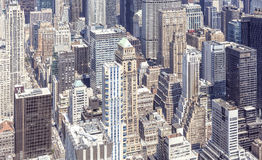 Aerial view of Manhattan, New York. Royalty Free Stock Photos