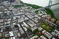 Aerial View of Manhattan, New York, USA Stock Image