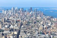 Aerial view of Manhattan, New York Royalty Free Stock Photo