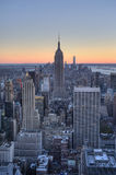 Aerial view of Manhattan skyline and New York City skyline Royalty Free Stock Image