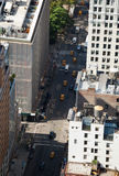 Aerial view of Manhattan streets Stock Images