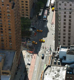 Aerial view of Manhattan streets Stock Image