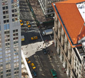 Aerial view of Manhattan streets Royalty Free Stock Photo