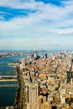 An aerial view of Manhattan - the Empire State. stock photo