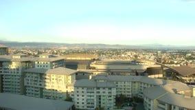 Aerial view of Manila City skyline stock footage