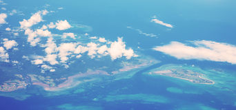 Aerial view of many islands Royalty Free Stock Photo