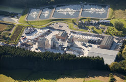 Aerial view : Marble industry and water treatment. Plant Royalty Free Stock Images