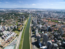 Aerial view of Marginal Pinheiros in Sao Paulo, Brazil Stock Photo