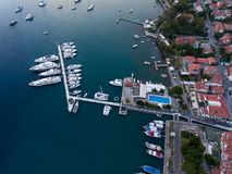 Aerial view of marina Royalty Free Stock Photos