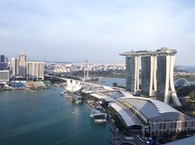 Aerial view of marina bay singapore Royalty Free Stock Photography