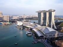 Aerial view of marina bay singapore Stock Image