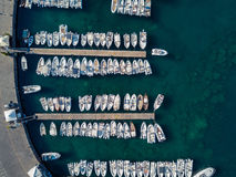 Aerial view of the marina Stock Photography