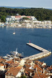Aerial view at the marina in Rovinj,Croatia Royalty Free Stock Images