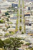 Aerial view of Market Street, Castro, San Francisco Stock Photos