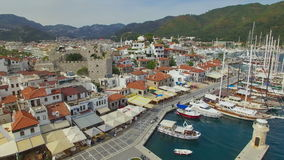 Aerial view of Marmaris, Turkey stock footage