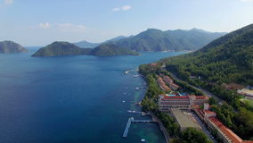 Aerial view of Marmaris, Turkey stock video footage