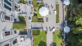 Aerial view of marriage, park Stock Images