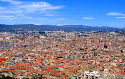 Aerial view of Marseille. Aerial view of the city of Marseille in France Stock Image