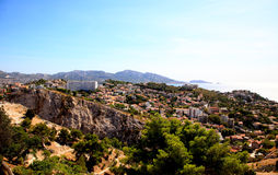 Aerial view of Marseille City Royalty Free Stock Photo