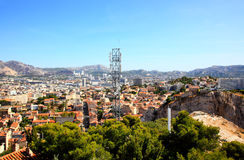 Aerial view of Marseille City Royalty Free Stock Image