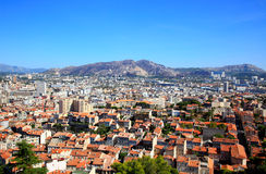 Aerial view of Marseille City Royalty Free Stock Images