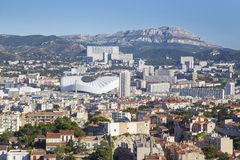 Aerial View of Marseille City and its stadium, France Stock Photography