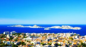 Aerial View of Marseille France Stock Photo