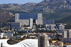 Aerial view of Marseille to the northern districts Stock Image