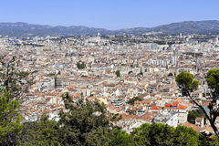 Aerial view of Marseille Royalty Free Stock Photo