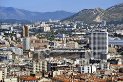 Aerial view of Marseille Stock Image