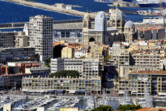 Aerial view of Marseille Royalty Free Stock Images